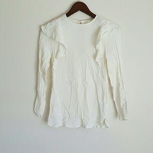 Ruffle white blouse